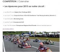 Calendrier des Courses 2015 à Ostricourt