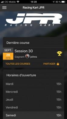 Application Facebook Gratuit Racing Kart JPR Ostricourt