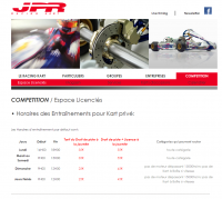 Espace licenciés, Site web JPR